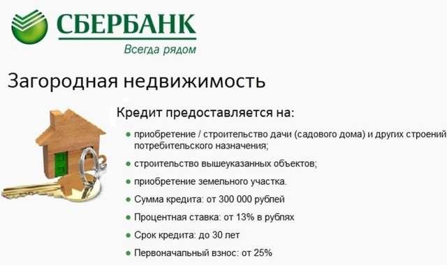 Ипотека на покупку дачи в Сбербанке