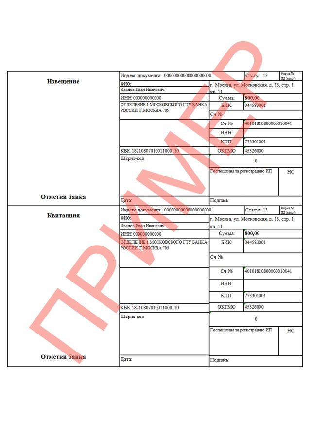 Перечень документов для регистрации ИП