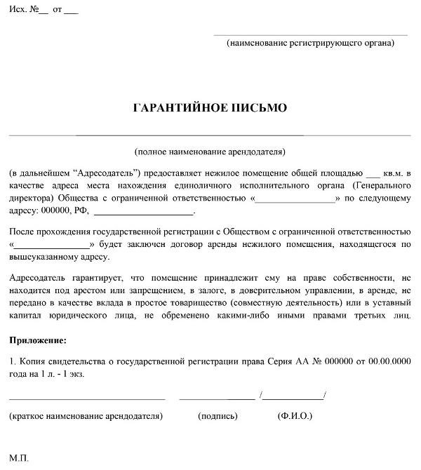 Договор аренды юридического адреса: назначение, составление, образец